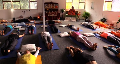 Morning practice of Asana and Pranayama from Auckland