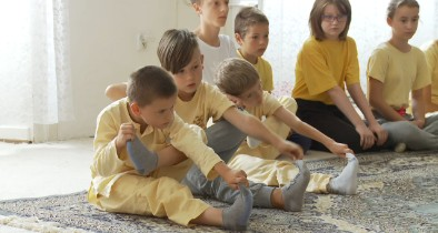 Yoga practice with children