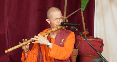 Meditation with flute